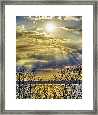 Glory Rays Framed Print