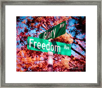 Glory Signs Framed Print by Sonja Quintero