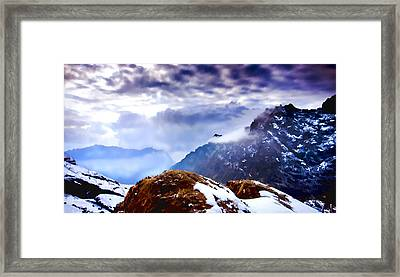 Framed Print featuring the painting Glory by Steven Richardson