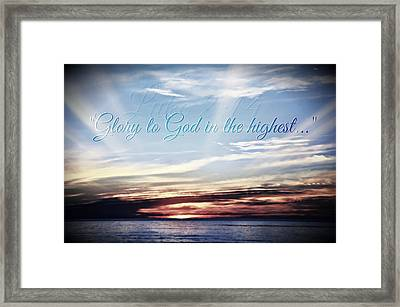 Glory To God Framed Print