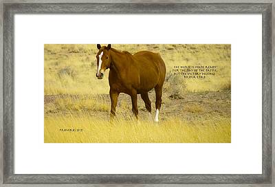 Glory To The One Who Loves Us Framed Print by David  Norman
