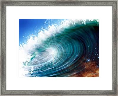 Glory Waves Framed Print