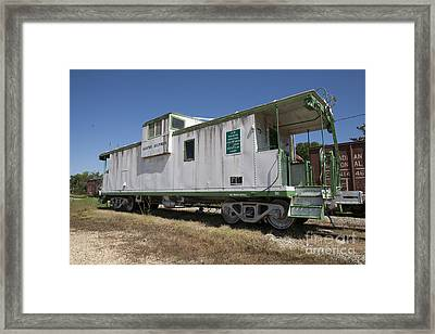 Gloster Caboose Framed Print by Russell Christie