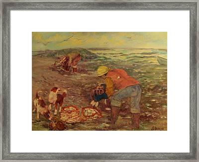 Gloucester Clam Diggers Framed Print