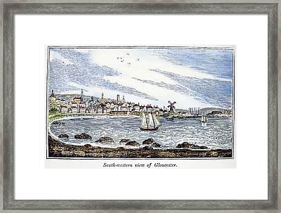 Gloucester Harbor, 1844 Framed Print