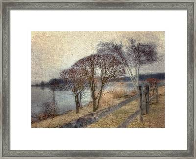 Gloucester Winter Morning - Vintage Framed Print by Joann Vitali
