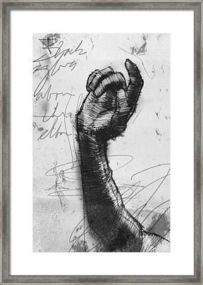 Glove Study Framed Print by H James Hoff