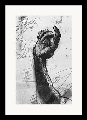 Opera Gloves Drawings Framed Prints