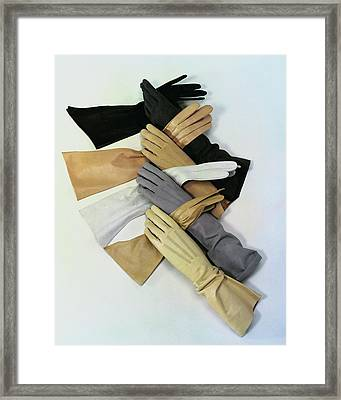 Gloves Framed Print by Erwin Blumenfeld