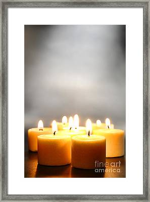 Glow And Smoke Framed Print