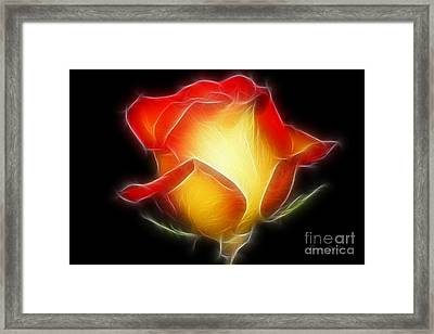 Glow In The Dark Framed Print by Teresa Zieba
