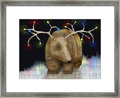 Glow Me The Way For Xmas Framed Print