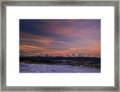 Glow Of Morning Framed Print by Jeremy Rhoades