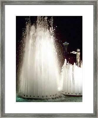 Glow Of Seattle Framed Print