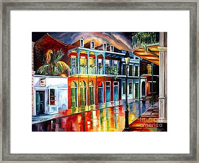 Glow Of The Vieux Carre Framed Print by Diane Millsap