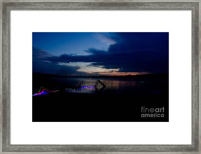 Glow Sticks Framed Print by Cassie Marie Photography
