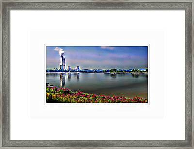 Glowing 3 Mile Island Framed Print by Kathy Churchman