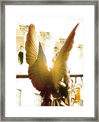Glowing Angel Framed Print by Misty Stach
