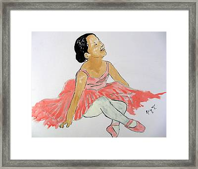 Glowing Ballerina Framed Print by Erin T