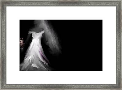 Framed Print featuring the digital art Glowing Bride by Jessica Wright