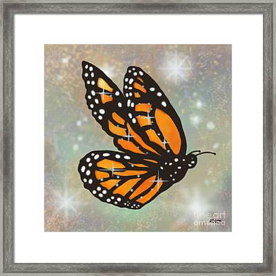Glowing Butterfly Framed Print by Audra D Lemke