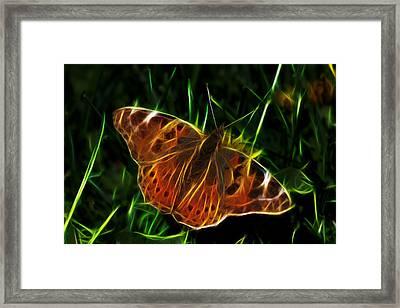Glowing Butterfly Framed Print