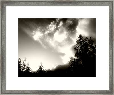 Framed Print featuring the photograph Glowing Clouds by Adria Trail