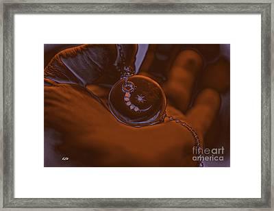 Glowing Framed Print by Crystal Harman