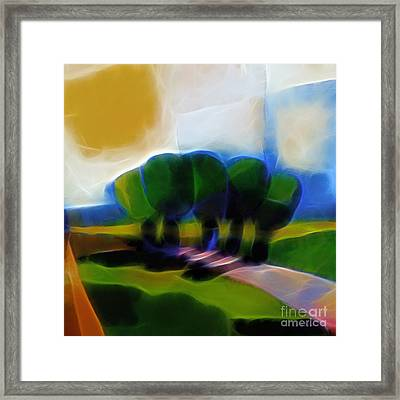 Glowing Day Framed Print