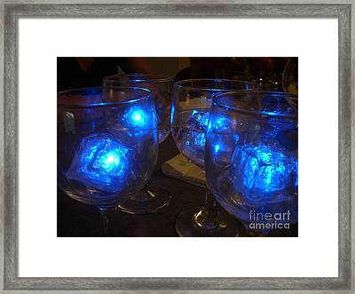 Glowing Drinks Framed Print by Barbie Corbett-Newmin