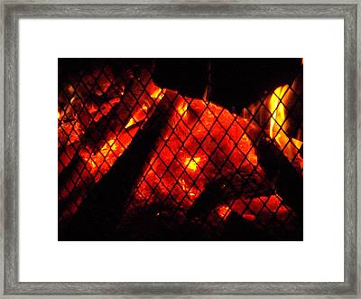 Glowing Embers Framed Print by Darren Robinson