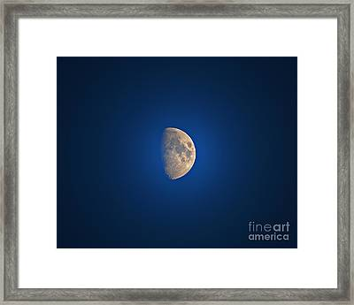 Glowing Gibbous Framed Print