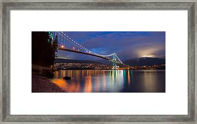 Glowing Grouse Mountain Framed Print