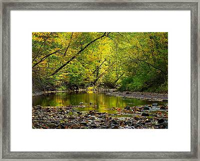 Glowing Haven Framed Print by Frozen in Time Fine Art Photography