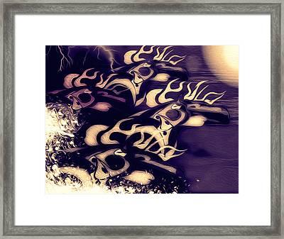Glowing Horse Series 5 Framed Print by Teri Schuster