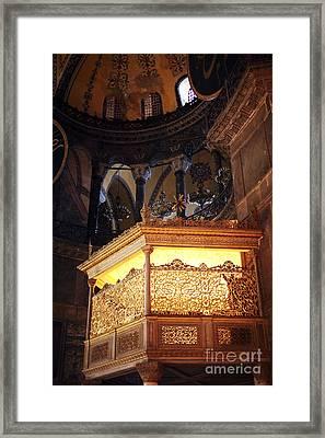 Glowing In The Sophia Framed Print