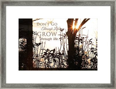 Glowing Landscape With Message Framed Print