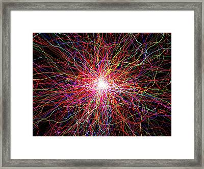 Glowing Light Lines Framed Print by Alfred Pasieka