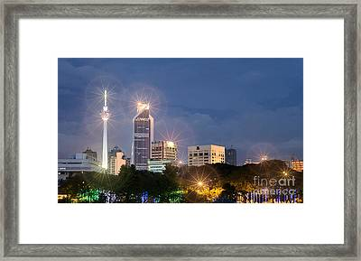 Glowing Lights Of Kuala Lumpur - Malaysia - South East Asia Framed Print