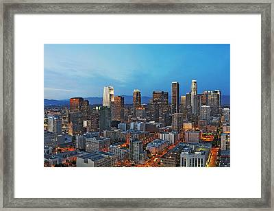Glowing Los Angeles Framed Print by Kelley King