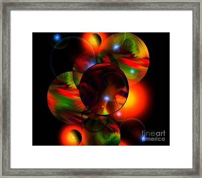 Glowing Marbles Framed Print by Gayle Price Thomas
