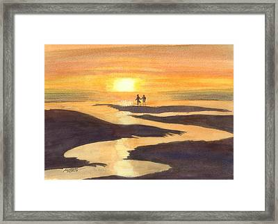 Glowing Moments Framed Print