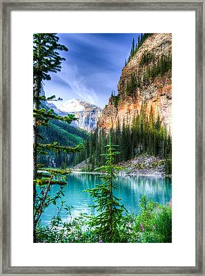 Glowing Mountain Lake Louise Framed Print