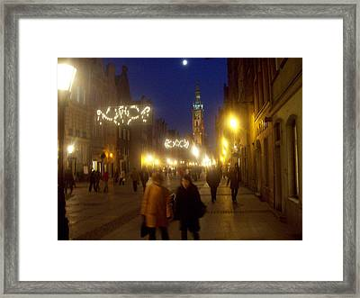 Glowing Old Gdansk Framed Print