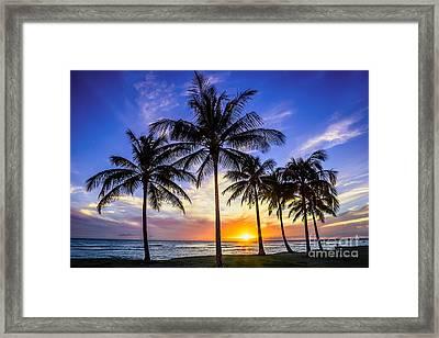 Glowing Orange Hawaiian Sunset Framed Print