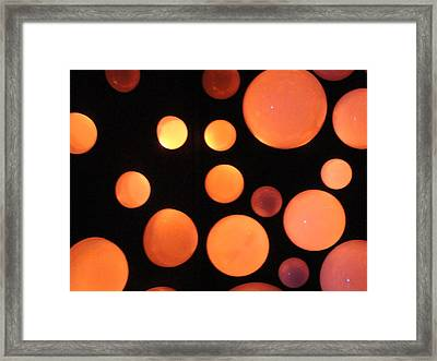 Glowing Orange Framed Print