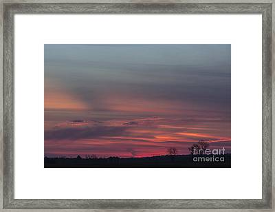 Glowing Plains Framed Print