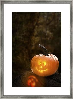 Glowing Pumpkin Framed Print