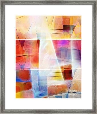 Glowing Sea Framed Print by Lutz Baar