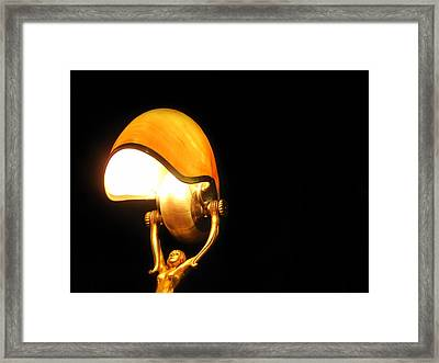 Glowing Shell Framed Print by Jhoy E Meade
